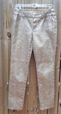 Chico's Platinum Denim Gold/taupe Animal Print Pants Size 00Regular (XS)