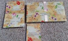 French Floral Stationery Set 2 Note Pads & Envelopes