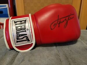 Smokin Joe Frazier Autographed Hand Signed Boxing Glove Everlast #8 Size HOF