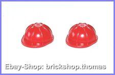 Lego 2 x albañil casco rojo - 3833-minifig construction Helmet red-nuevo/new