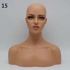 New Luxury Realistic Mannequin Head Fiberglass Hat Wig Glasses Mold Stand No.15