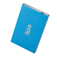 Bipra 80GB Blue USB 3.0 FAT32 Portable Slim External Hard Drive for MAC & Window