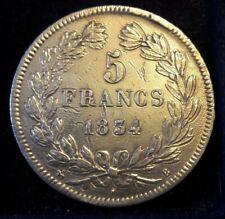 5 Francs Louis-Philippe France KM#749 ==> 1832 <=>1847 Letter : A-B-K-M-W