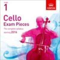 ABRSM: Cello Exam Pieces 2016+ - Grade 1 (CD) Cello CD Instrumental Tutor