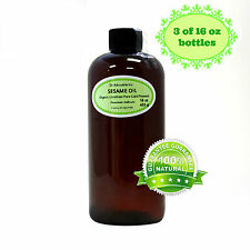 48 OZ/3 PINTS PURE SESAME OIL UNREFINED ORGANIC COLD PRESSED