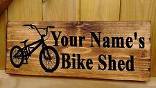 PERSONALISED Bike Sign Bmx Mountain Bikes Room Garage Shed Storage Racks