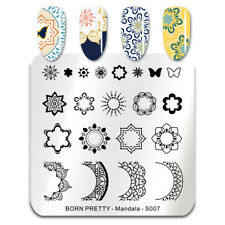 BORN PRETTY Square Nail Stamping Plate Butterfly Overprint Template Mandala S007