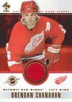 2001-02 Private Stock Hockey Game JERSEY #44 Brendan Shanahan Detroit Red Wings