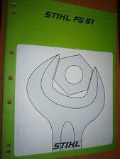 STIHL coupe-bordures FS51 - FS 51 : manuel d'atelier