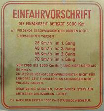 """Einfahrvorschrift """"Vintage"""" Aufkleber nur hier, deutsche Vespa 4-Gang Modelle"""