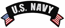 """US Navy Rocker Large Jacket Patch (LP034) 11"""" x 4 1/2"""" Embroidered Patch 74984"""
