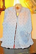 ROBERT GRAHAM DETAILED GEOMETRIC / FLEU DE LIS  SHIRT / XL