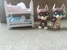 Littlest Pet Shop Great Dane twin bed good used condition Lps