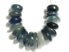 Natural Blue Sapphire Smooth Rondelle Gemstone Beads (26095)