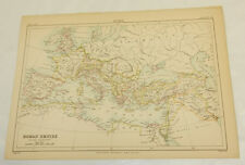 1886 Antique COLOR Map/ROMAN EMPIRE IN THE THIRD CENTURY