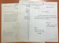 Greece 3 Original Documents Signed, Defence Ministry, President, Marine Ministry