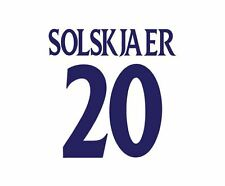 Solskjaer 20 Manchester United 2000-01 Away champions league Football Nameset