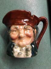 "Vintage Miniature Royal Doulton Character Toby Jug 1 3/8"""