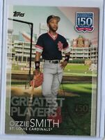 2019 Topps Series 2 baseball 150 Years of baseball Ozzie Smith 150th 143/150