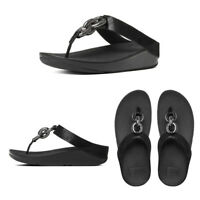 FitFlop Superchain Leather Toe-Post Women's Sandals RRP £85