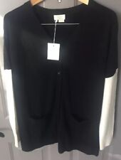 NWT Kate Spade Oversized Cardigan Sweater- Black and Cream-Small- $275