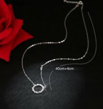 Flower Ring 925 Sterling Silver Micro-inlay Cubic Zirconia Pendant Necklace