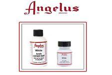 Angelus Brand Acrylic Leather Paint - White - 1oz / 4o
