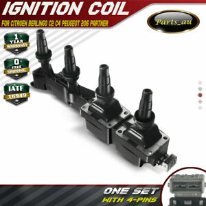 Ignition Coil for Citroen Berlingo C2 C3 C4 Xsara Peugeot 206 307 Partner 1.6L