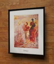 Dali print - 20''x16'' framed abstract wall art, dali wall art