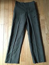 Vintage 1950's British Canadian Army Battle Dress Wool Trousers Men'S Size 30X30
