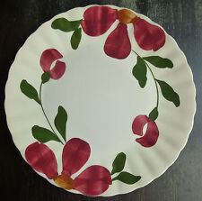 Blue Ridge Windflower lunch plate 9 1/4 red flower