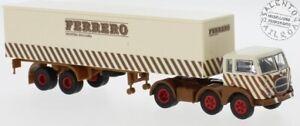 BREKINA 58506 camion Fiat 690 Millepiedi con rimorchio FERRERO scritta moderna 1