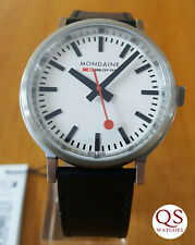 Mondaine Stop2Go BackLight mens watch - immaculate, warranty + box + papers
