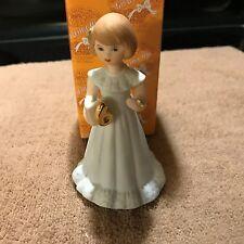 1981 Enesco Porcelien Growing Up Birthday Girl Age 3 Blonde Hair Figurine L#0291