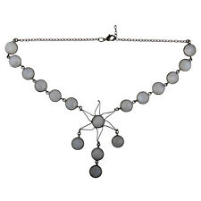 Fashion Women's Black Rhodium Designer Chain Statement Necklace Jewelry