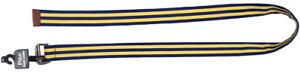 New Polo Ralph Lauren Classic Grosgrain Belt!  Royal Blue & Yellow Repp Stripe