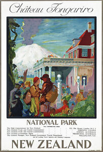 T43 Vintage New Zealand Railway Travel Poster A1 A2 A3
