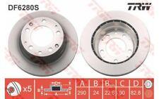 1x TRW Disco de Freno Trasero Ventilado 290mm DF6280S