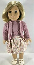 KIT Pleasant Company American Girl Doll-1st Edition Meet Outfit +Striped Nightie