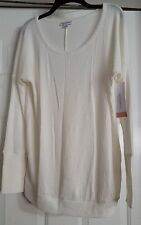 New Womens Liz Lange Maternity Sour Cream Light Weight Knit Sweater Top Size M