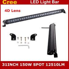 "SLIM 31INCH SPOT 150W CREE LED WORK LIGHT BAR SINGLE ROW 4D LEN LAMP ATV 30/32"""