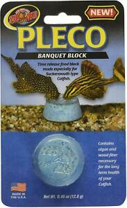 (10 Pack) Zoo Med Labs Feeder Pleco Banquet Food Block for Sucker-mouth Catfish