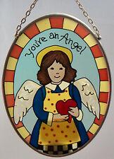 Joan Baker Suncatcher Folk Angel Home Decor Painted NEW