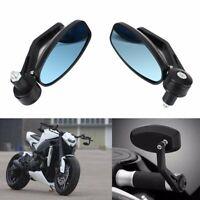 "2PCS Motorcycle 7/8"" Handle Bar End Rearview Side Mirrors Fit Honda Yamaha KTM M"