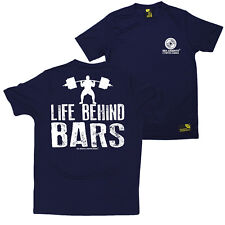FB Gym Bodybuilding Tee Life Behind Bars Novelty Dry Fit Performance T-Shirt