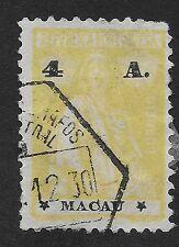 MACAU;  1923-1924 Ceres 4A Yellow/Black Used (BX)