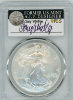 2006-W $1 1 OZ Burnished Silver Eagle SP70 PCGS Gary Whitley
