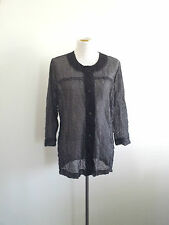 Timeless Black & White! Flax & Seed size L mesh top in excellent condition
