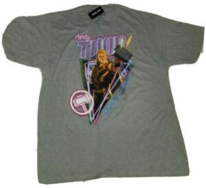 NWT Marvel What If...? Party Thor Gray t-shirt Mens Size 2XL Disney+ Multi-Verse