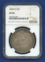 1894 O NGC XF45 Morgan Silver Dollar $1 Rare Key Date 1894-O NGC XF-45